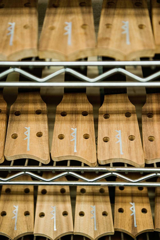 Wood Kamaka ukuleles in production