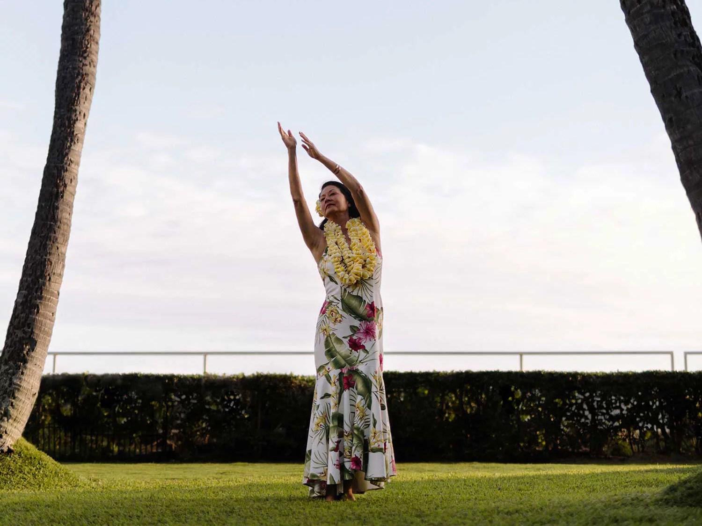 Hula performer Kanoe Miller