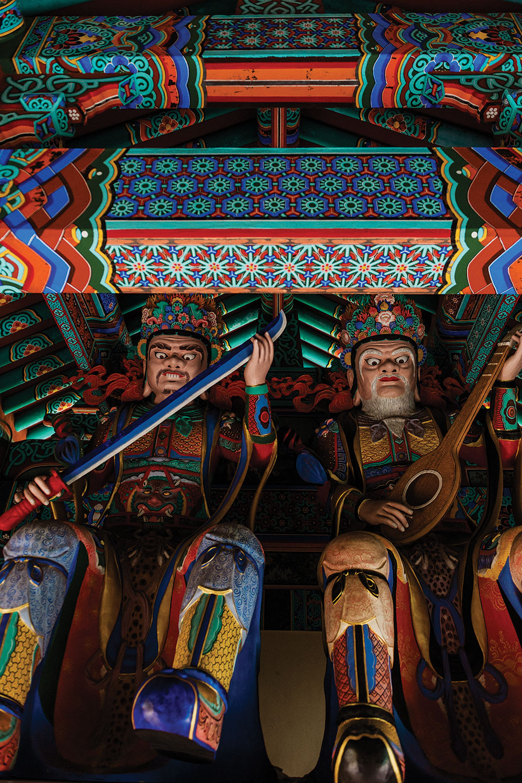 Korean Buddhist Temple shrine