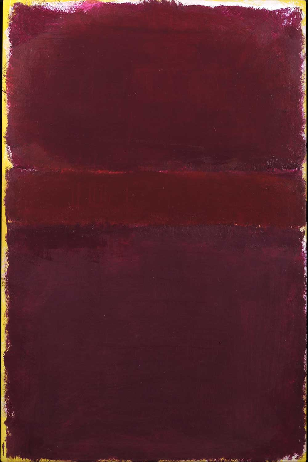 Red abstract acrylic Untitled Painting by Rothko