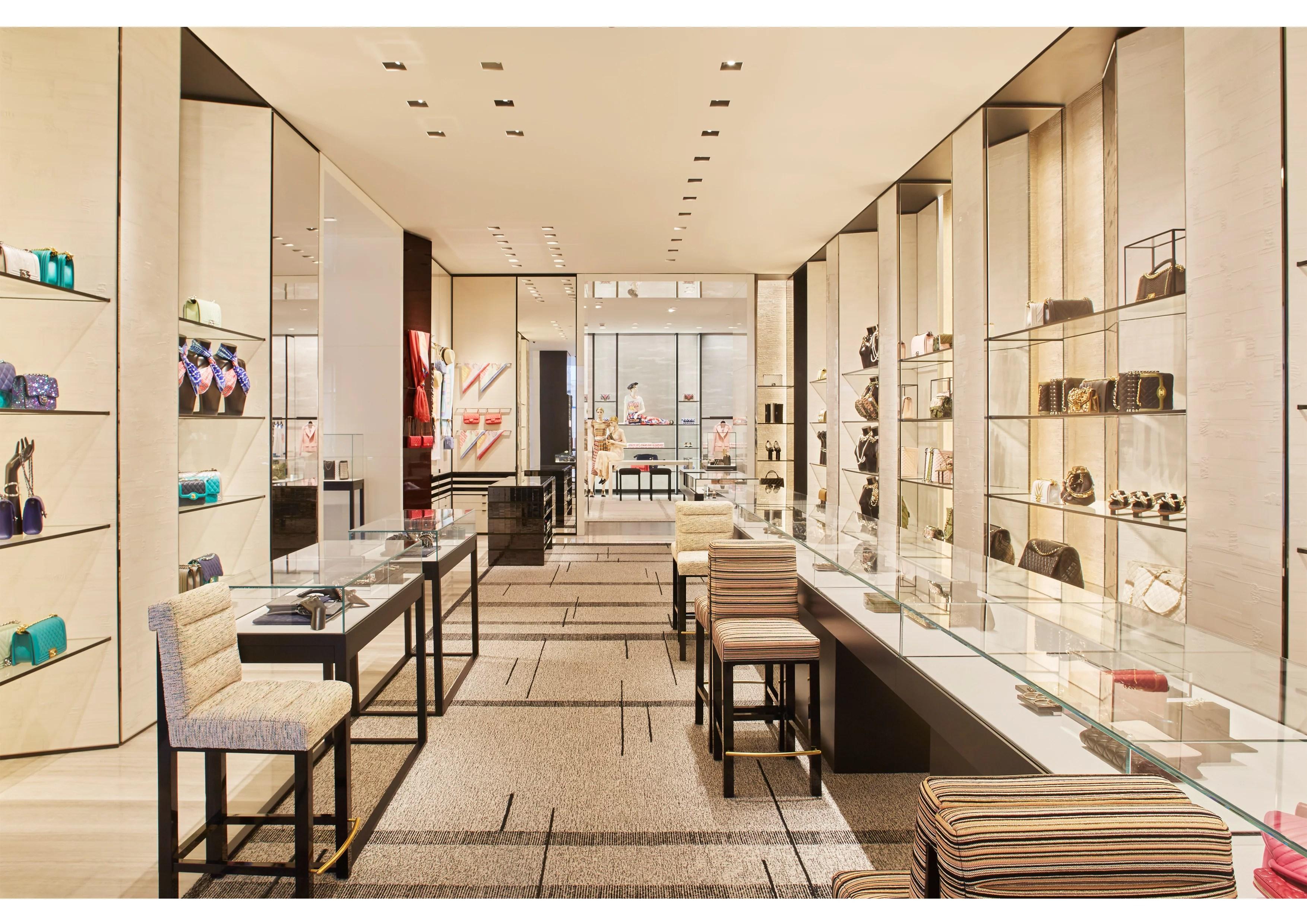 interior of Chanel Ala Moana Handbag Salon