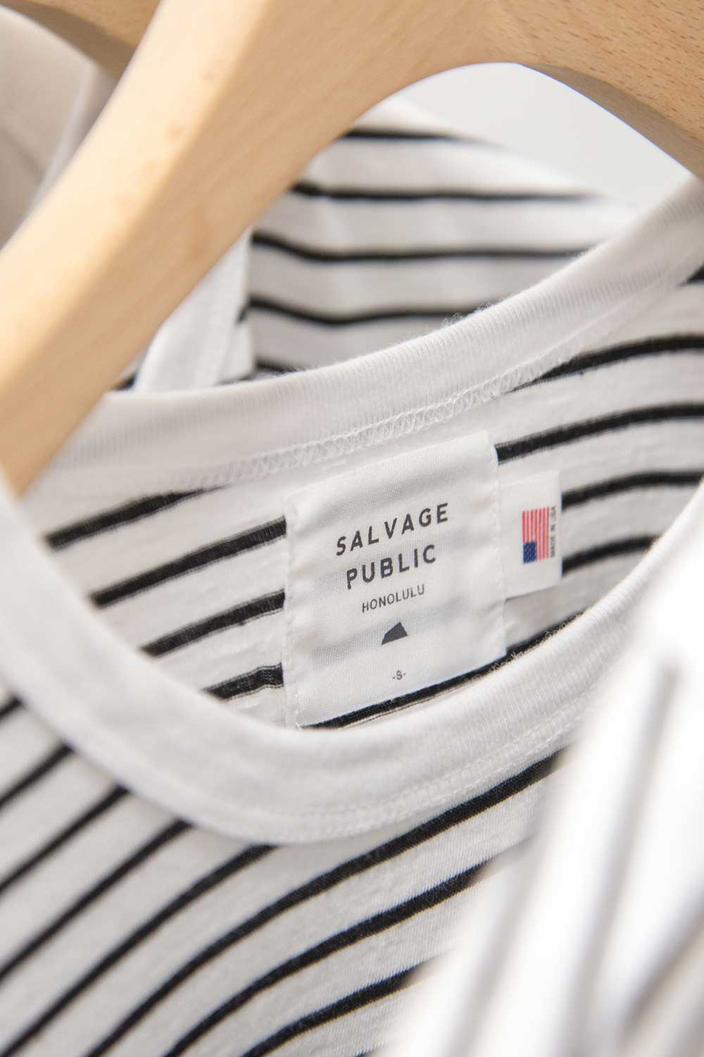 Salvage Public stripe tee on hanger