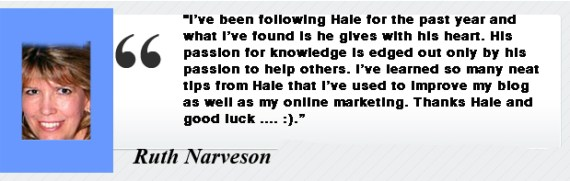 Ruth Naverson testimonial for Dr. Hale Pringle