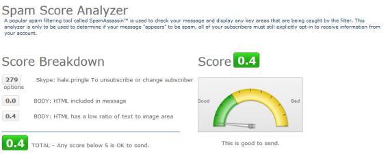 Spam Anaylyzer Page