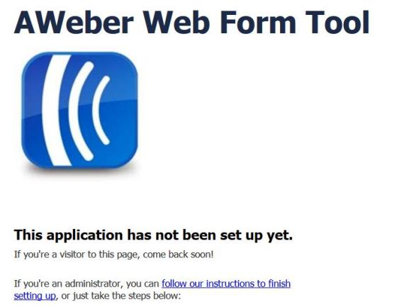 Activate aWEber Web App