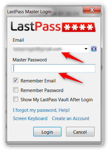 Firefox Tips -Login to Lastpass