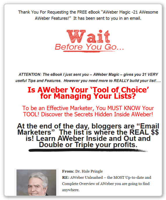 Sales Page - AWeber-Unleashed-After-AWeber-Magic-No-DL