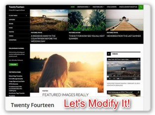Modify teh 2014 WordPress Theme