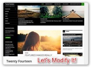 Modify teh 2014 WordPress Theme
