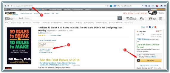 Amazon Display Page - 10 Rules to Break Book