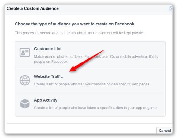 Facebook Retargeting Sebsite Traffic