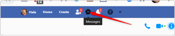 Network Marketing CRM - Messages Icon in Facebook