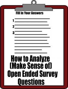 Tabulate Open Ended Survey Questions