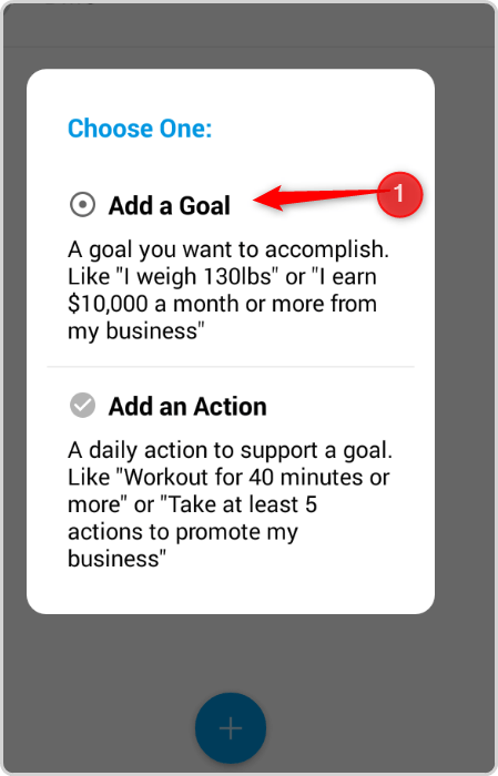 Track Your  DMOs - Add a Goal
