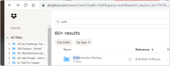 backup your Authenticator