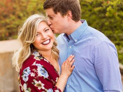 Trisha + Dustin Forest Park Spring Engagement Session || St. Louis Wedding Photographer