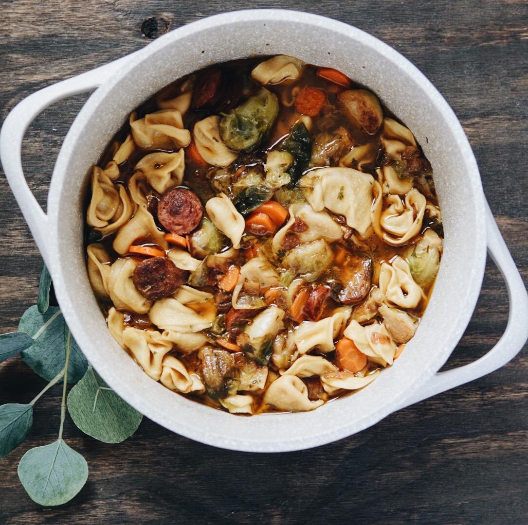 Sausage Tortellini Soup {Recipe}