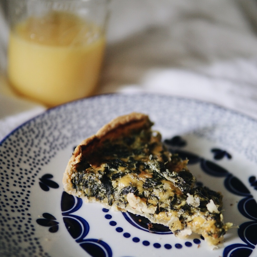 Parmesan Cheddar Spinach Quiche {Recipe Review}