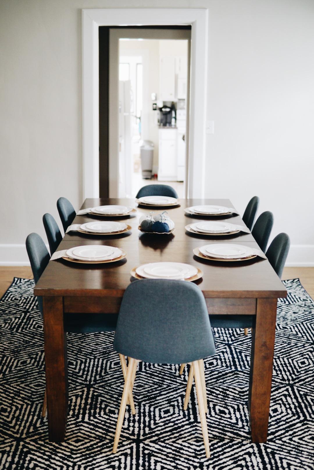 mid-century dining room