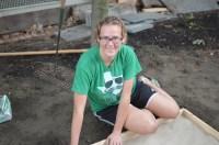 New Roxbury community garden intern, Stephanie