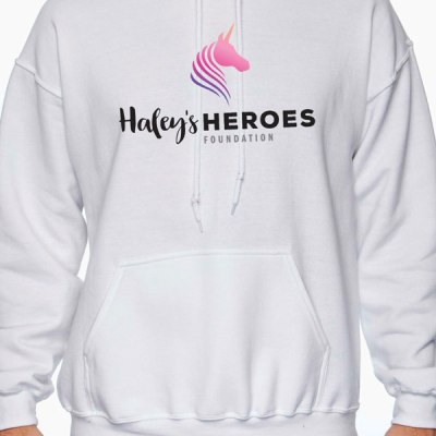 Haley's Heroes Foundation Hoodie in white