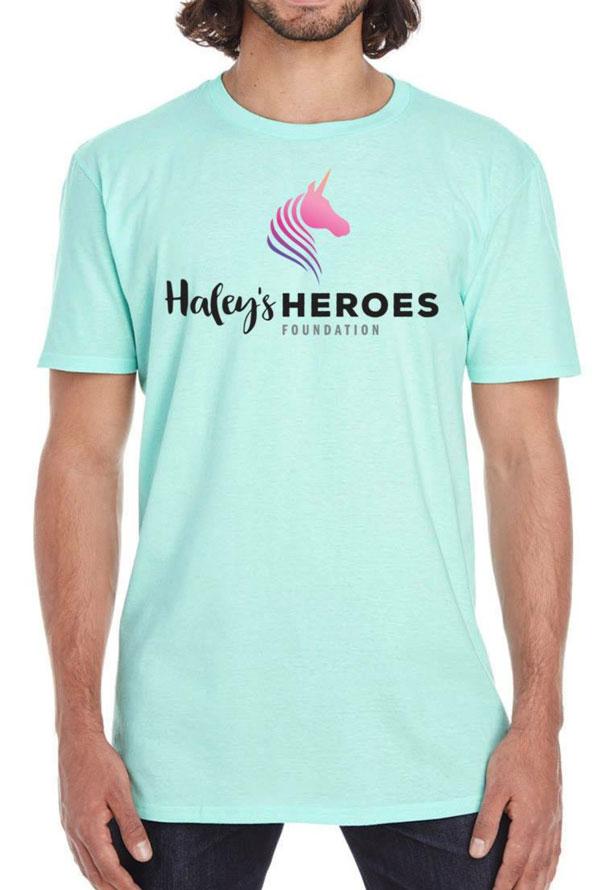 Haley's Heroes T-Shirt in seafoam
