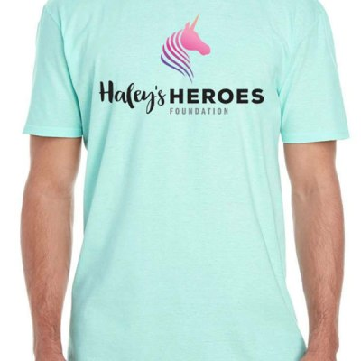 Haley's Heroes T-Shirt in seafoam