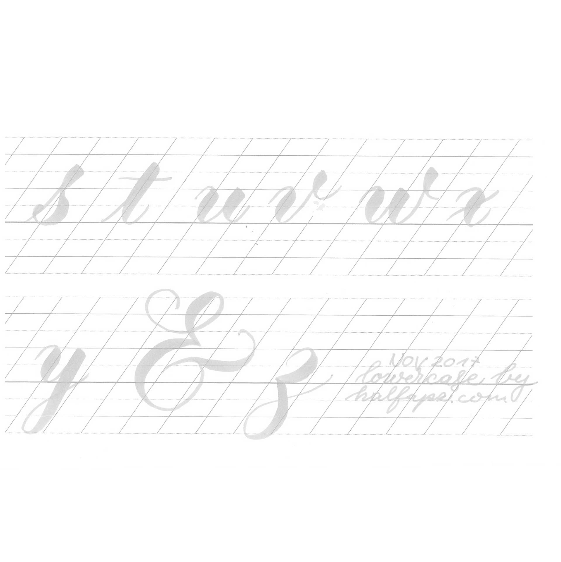 Lowercase Tombow Practice Sheet 12mm X Height