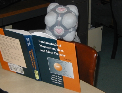 Weighted Companion Cube, reading Welty, Wicks, and Wilson.