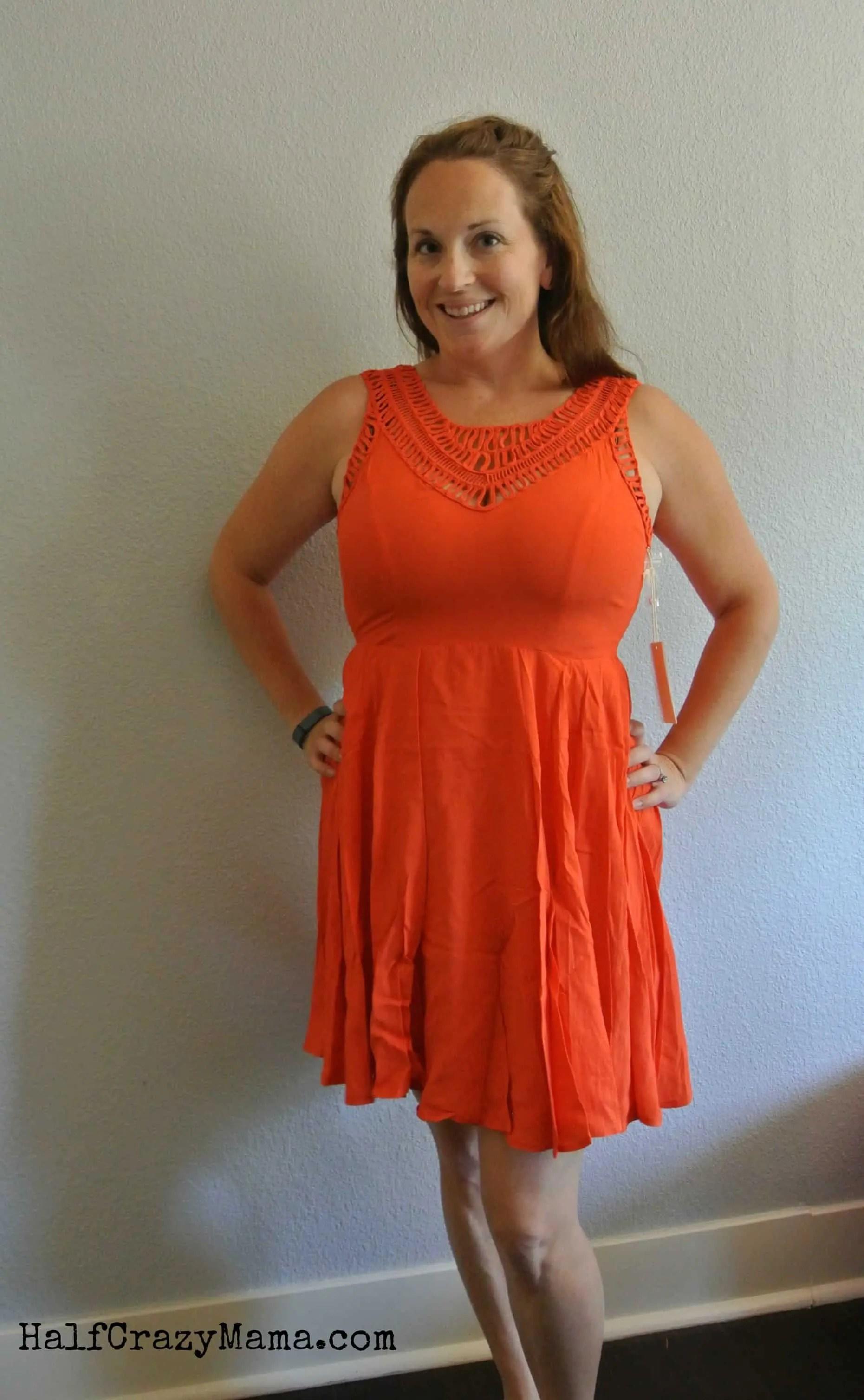 Stitch Fix 3 orange dress