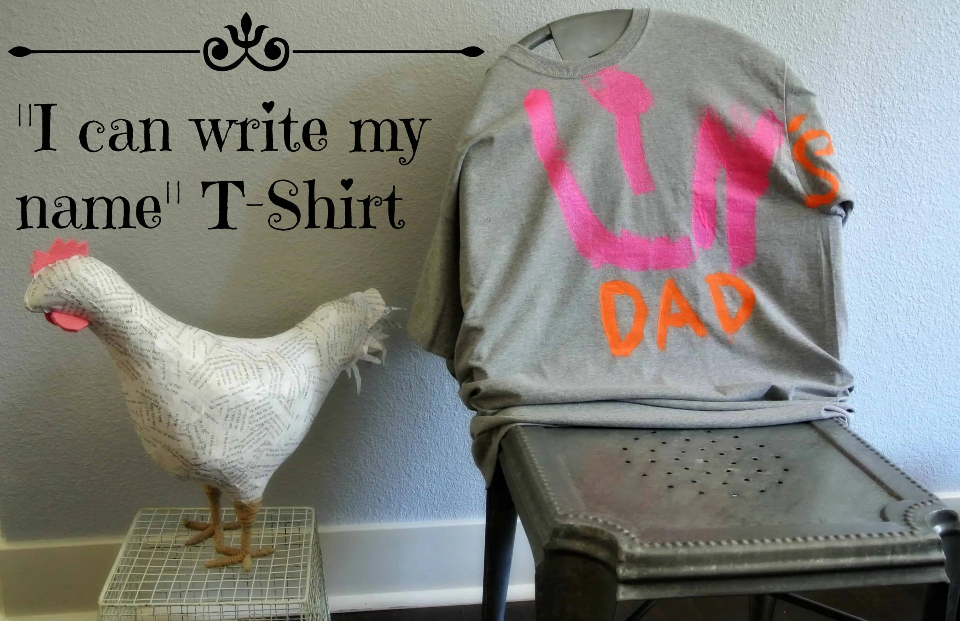 fathers day name shirt