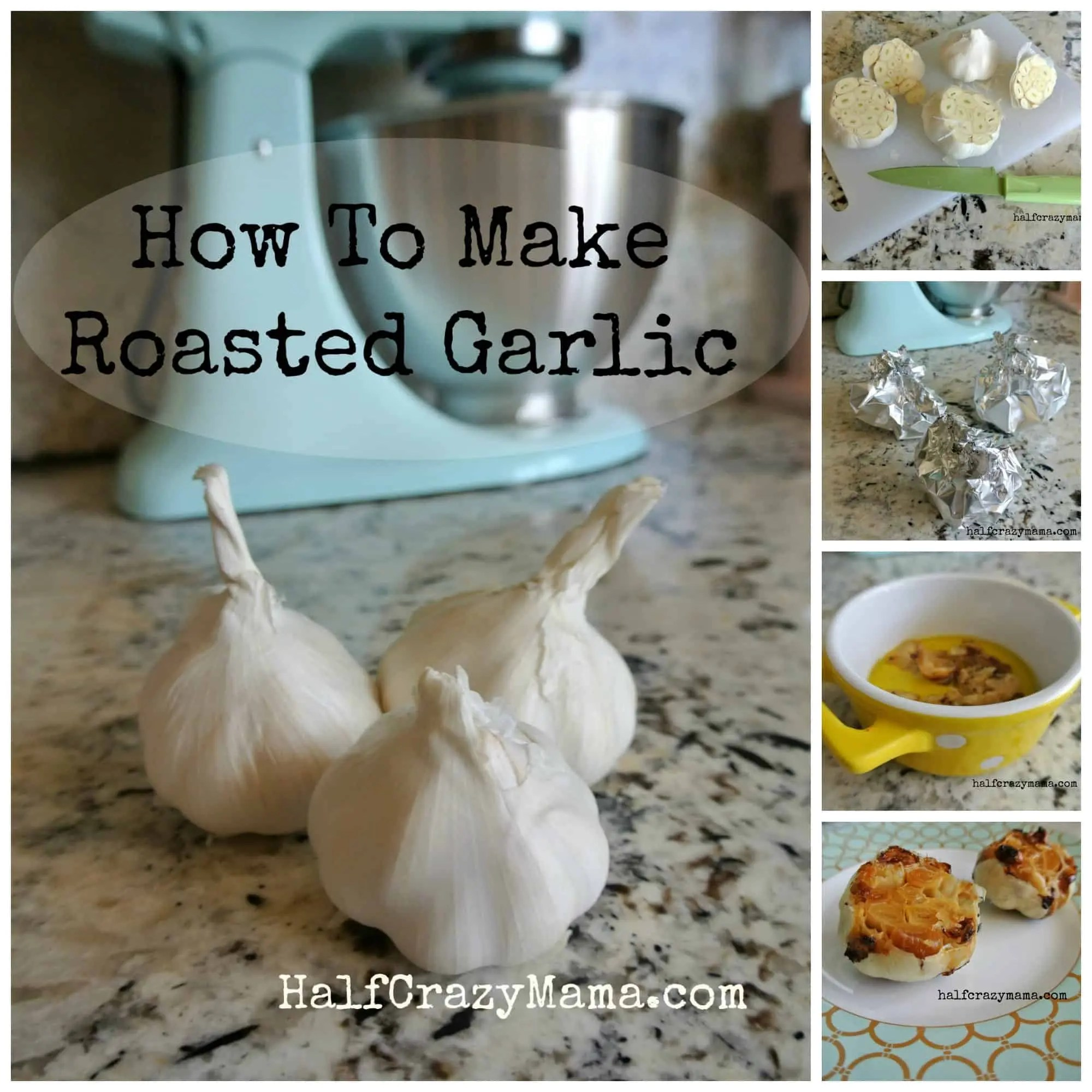 roasted garlic collage