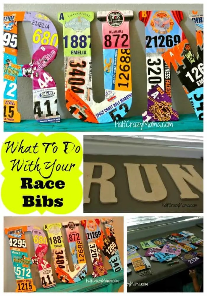 RACE BIB COLLAGE