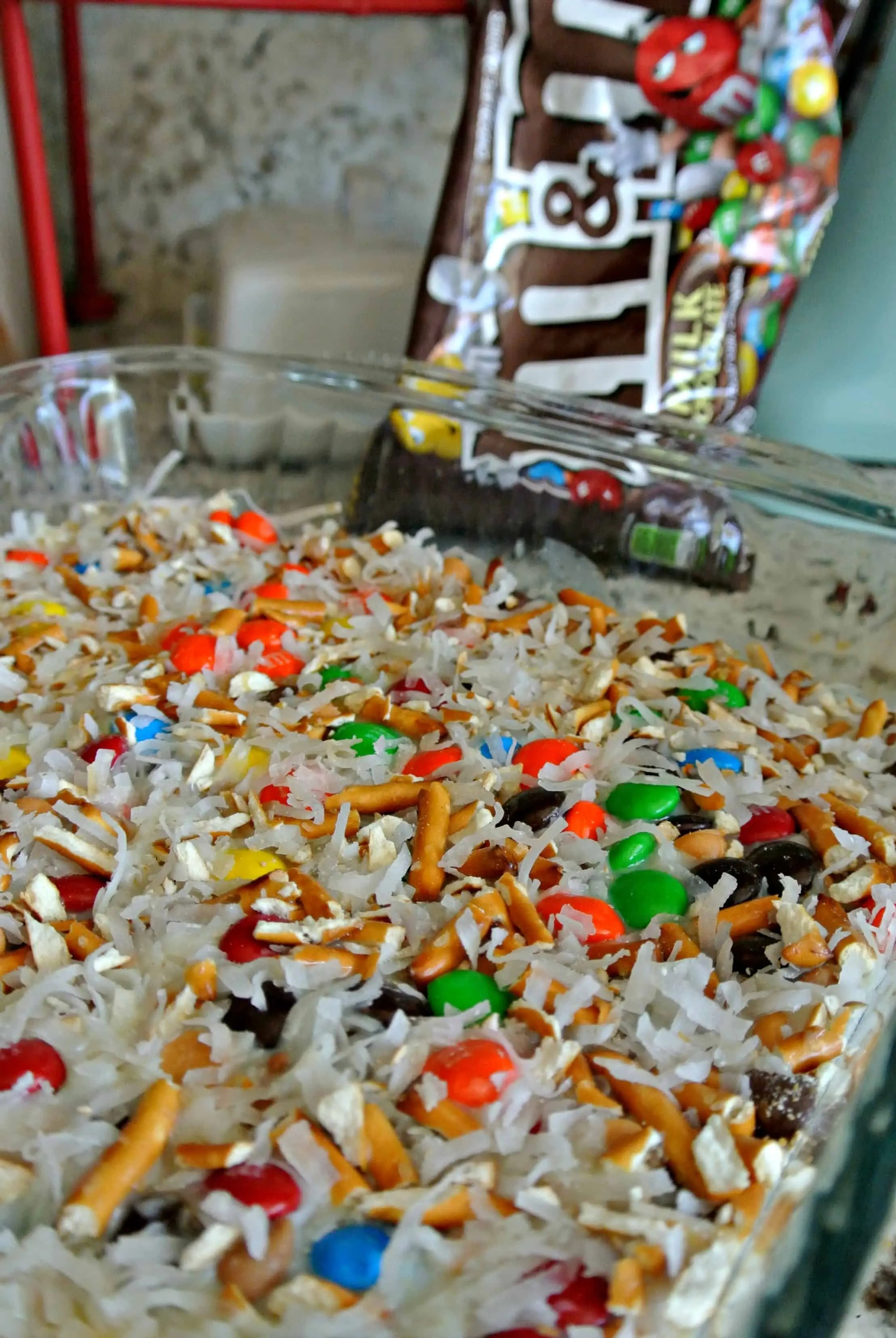 M&Ms ready to bake
