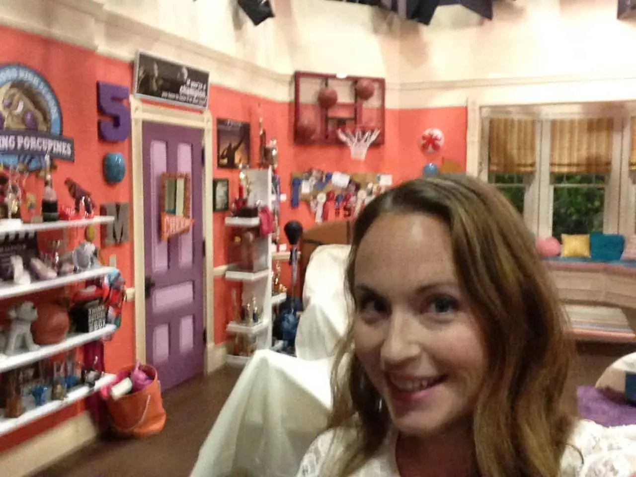 A selfie on set. I want Liv and Maddie's bedroom. So much cool stuff!