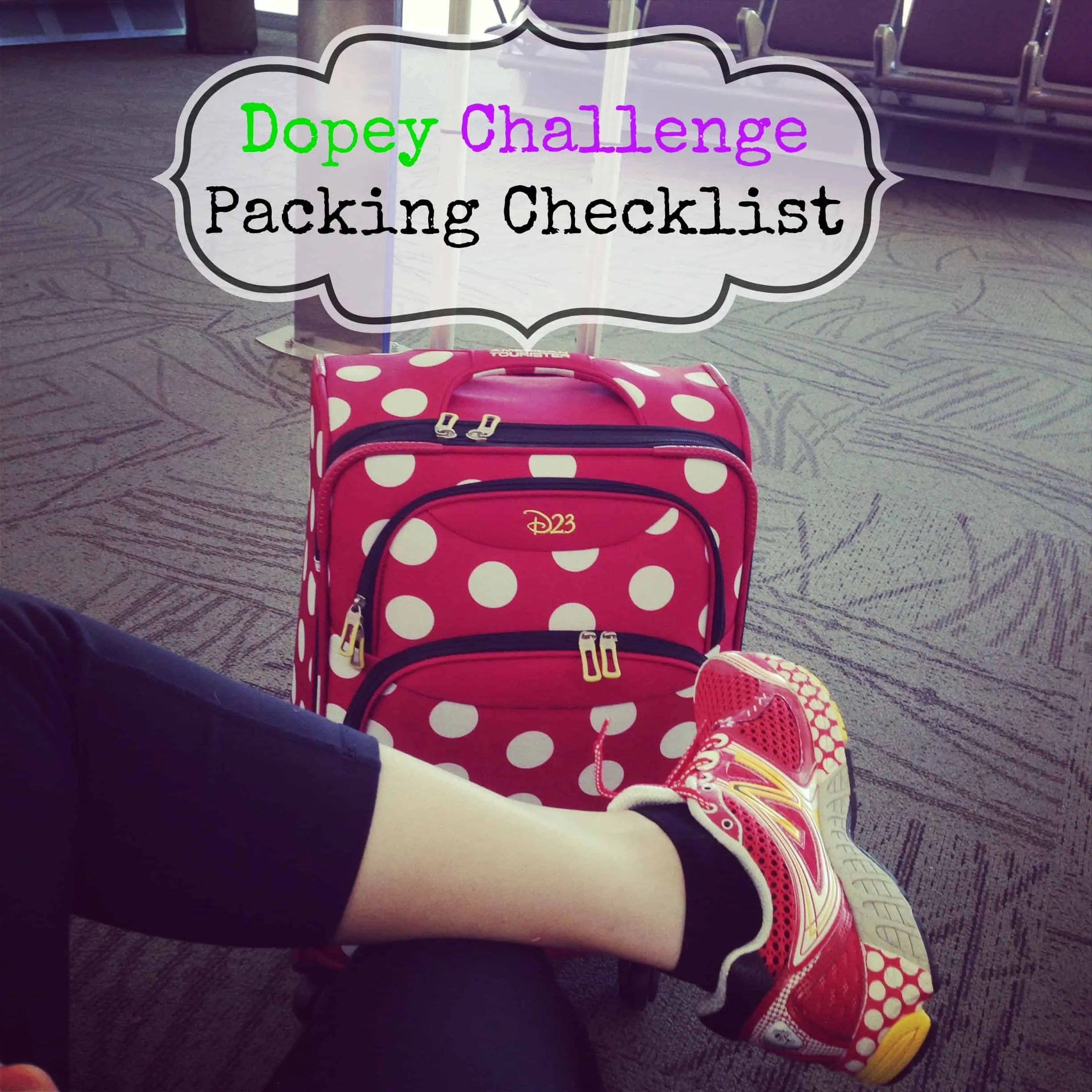 Dopey Challenge packing checklist