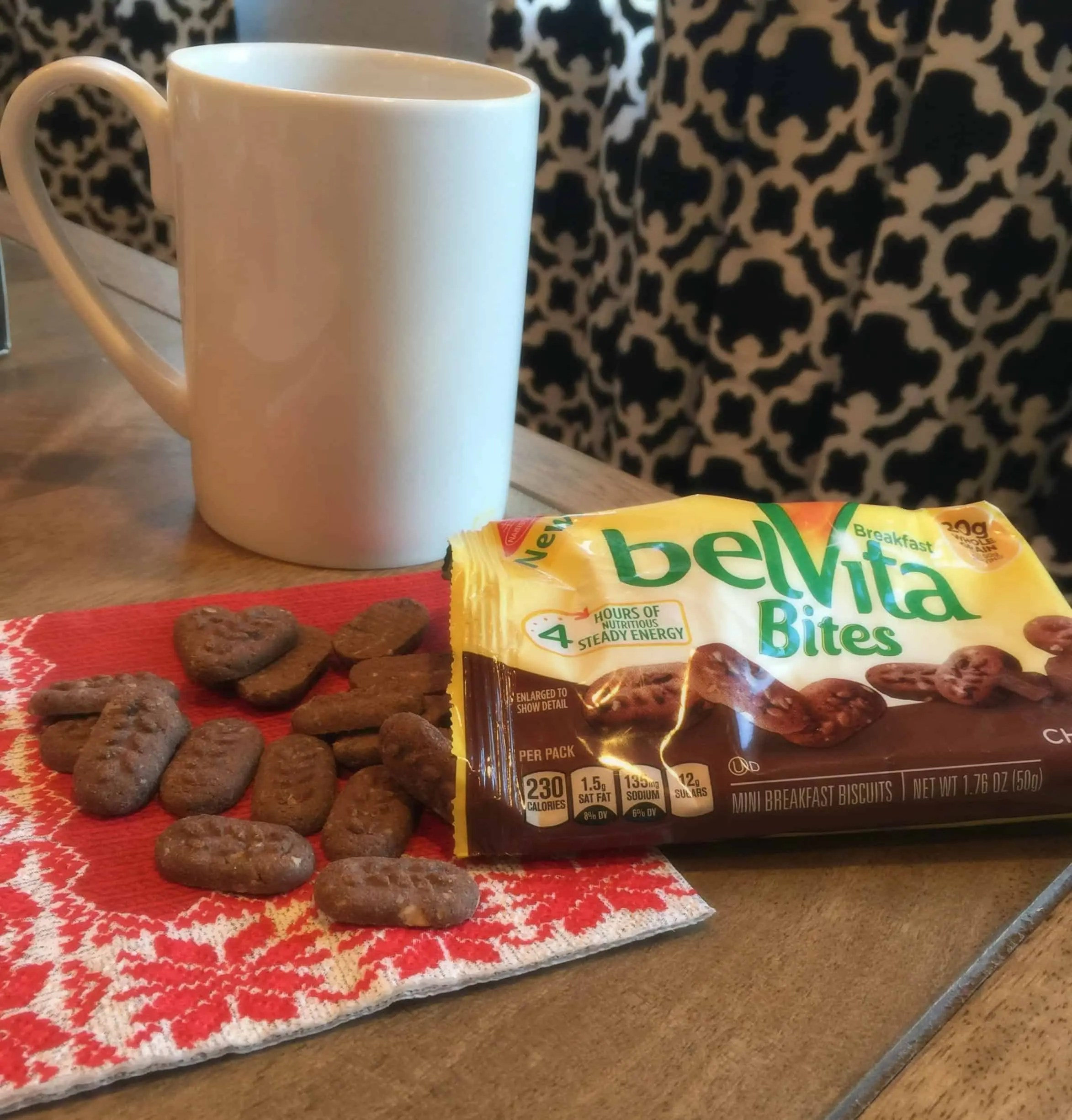 belVita Bites and coffee