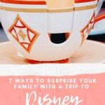picture of Disney World Teacup with ways to surprise your family with a trip to Disney world