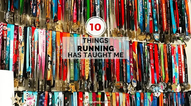10 things running has taught me medal wall