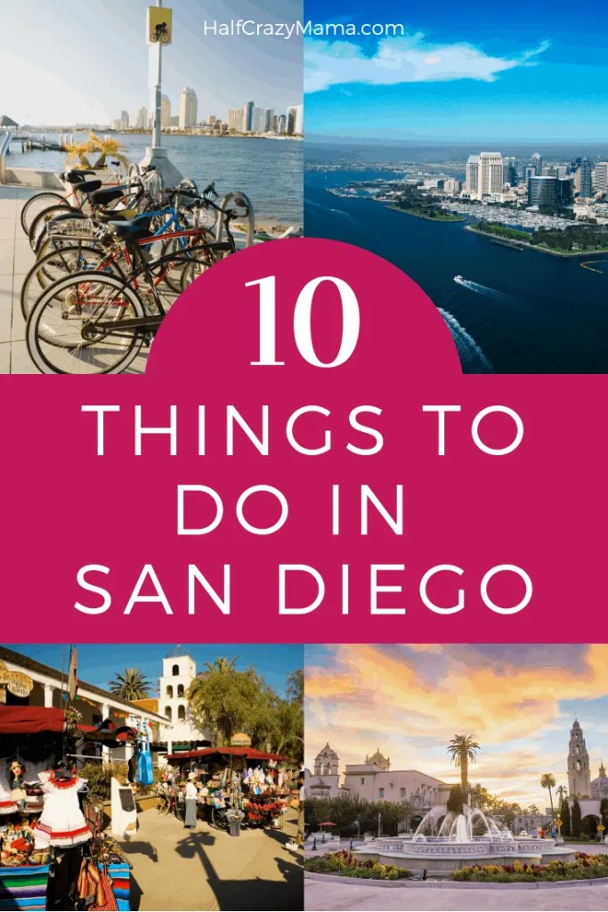 San Diego picture collage of what to do when visiting