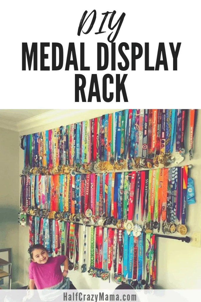 DIY Medal Rack Ideas | how to display medals | runner medals | marathon medal display | running | fitness goals | fitness motivation | running inspiration