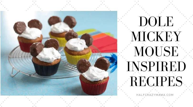 Mickey Mouse Dole Disney Recipes. | Healthier Ideas | Disney Food | Mickey Cupcakes