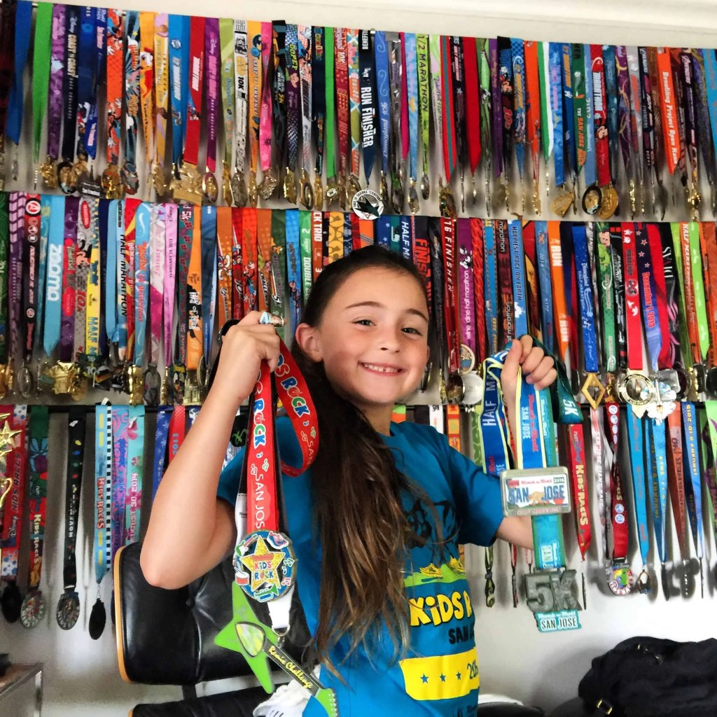 Medal Wall Display of Race Medals | marathon training | fitness motivation | inspiration | runner ideas | running | half marathon | train to run