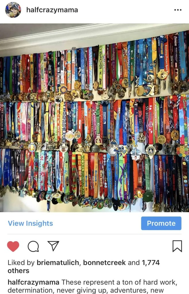 Race Medal Wall Display
