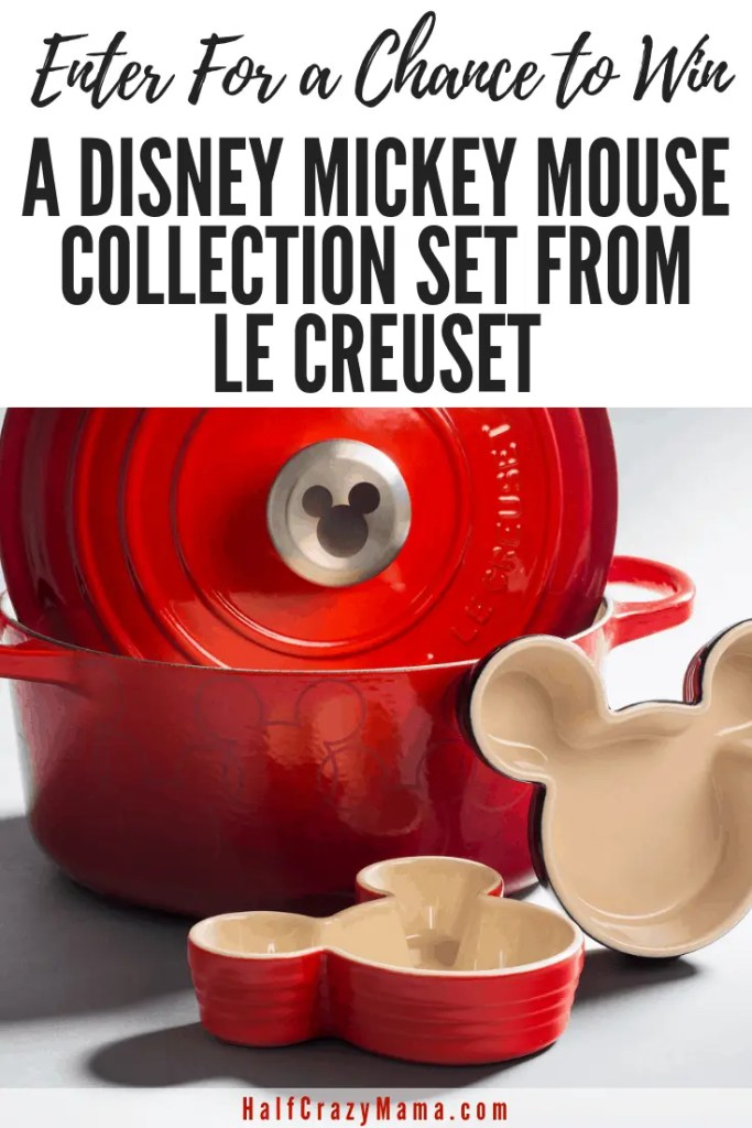 Enter for a Chance to Win a Disney Mickey Mouse Collection set from Le Creuset