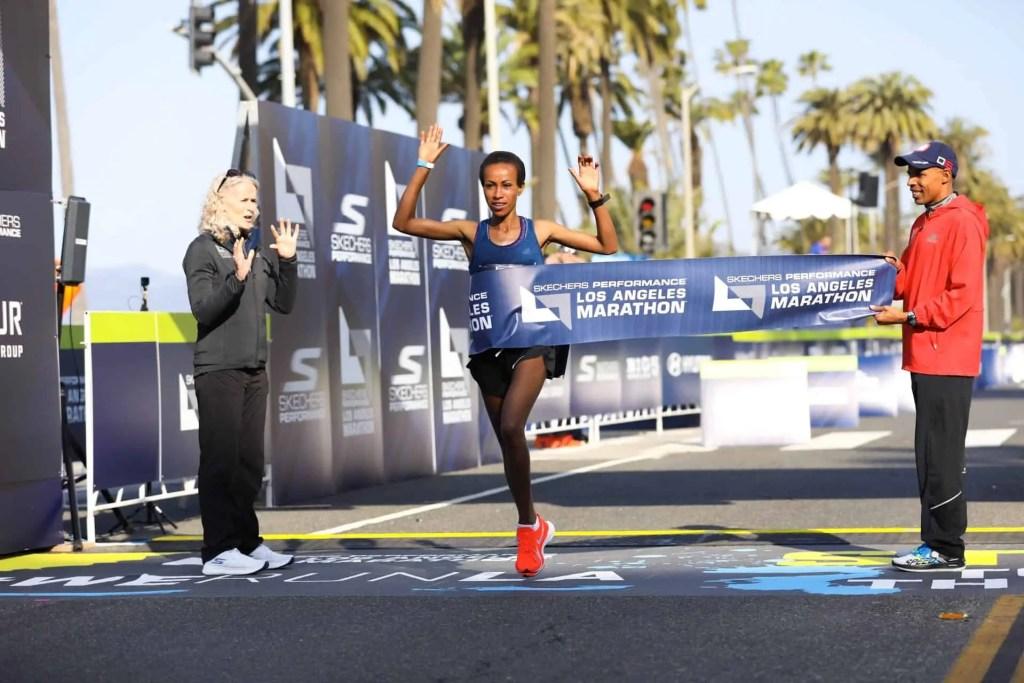 LA Marathon Womens Winner