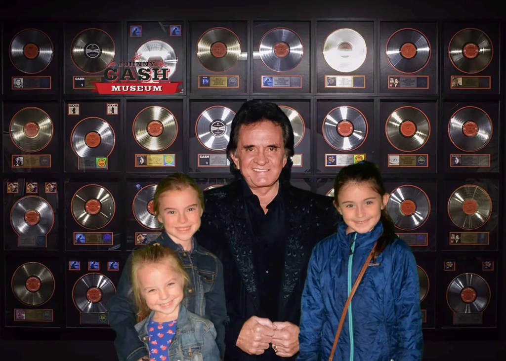 Picture with Johnny Cash at Johnny Cash Museum