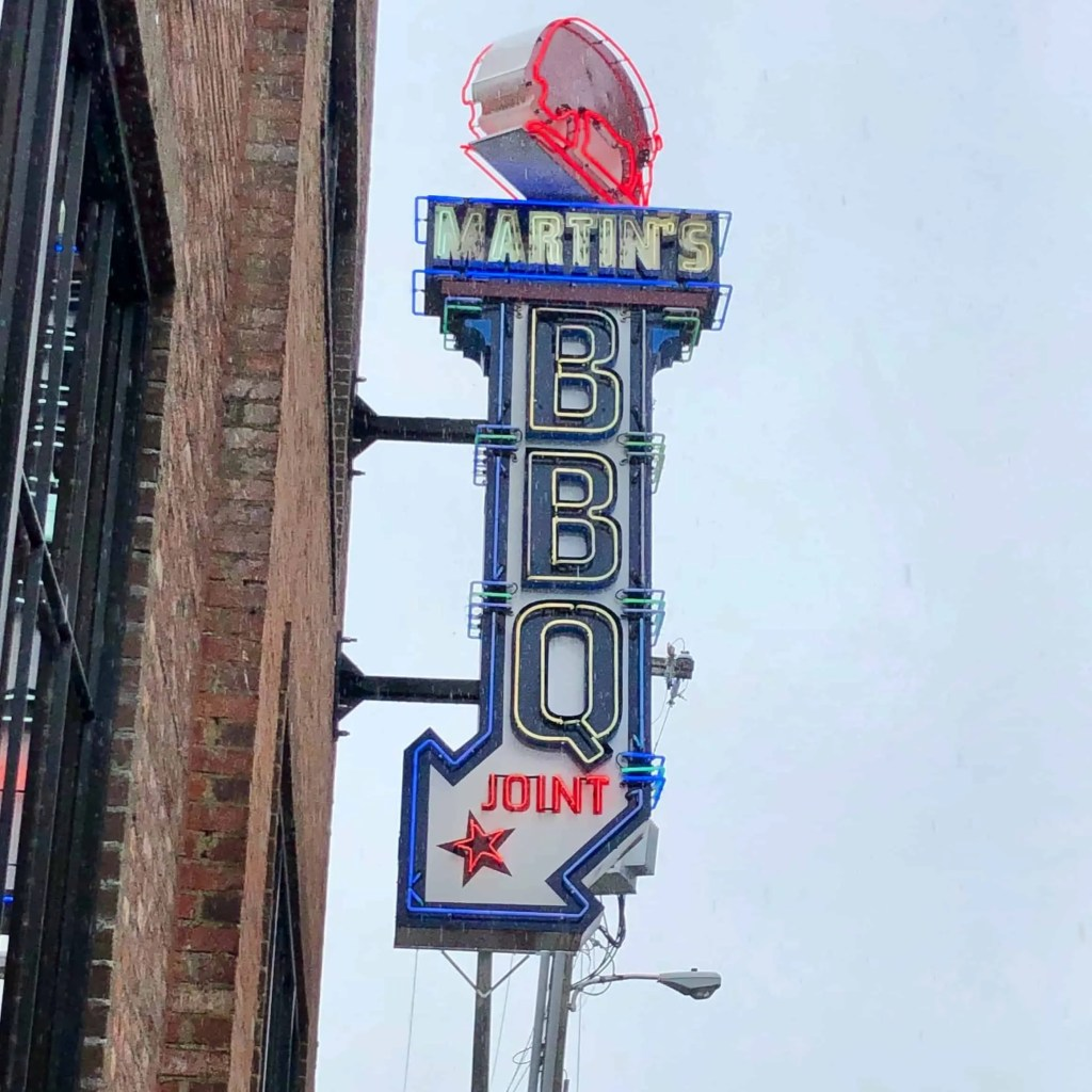 Martin's BBQ Joint Nashville Sign