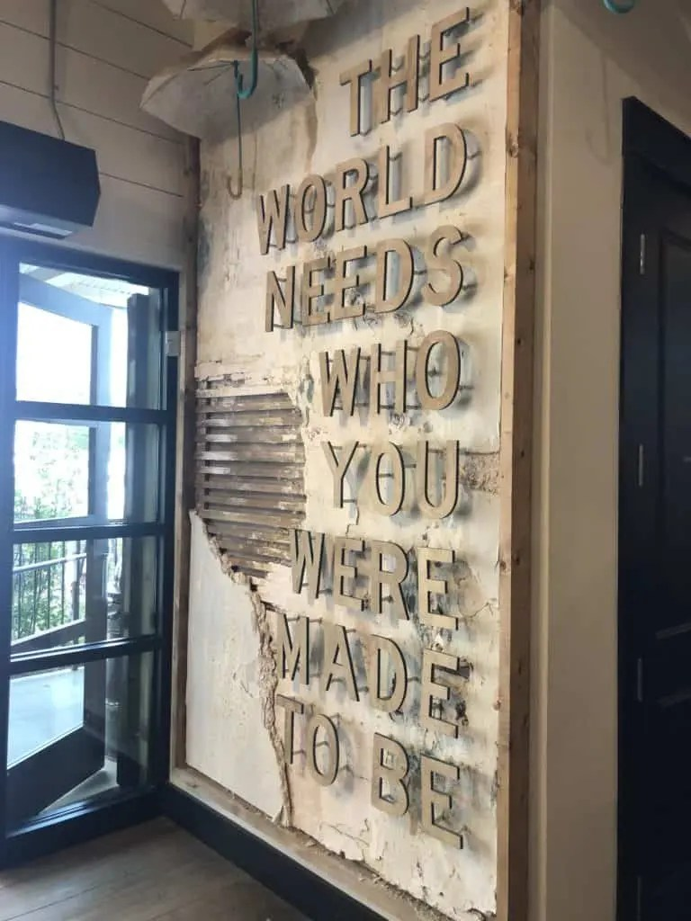 sign inside Magnolia Market