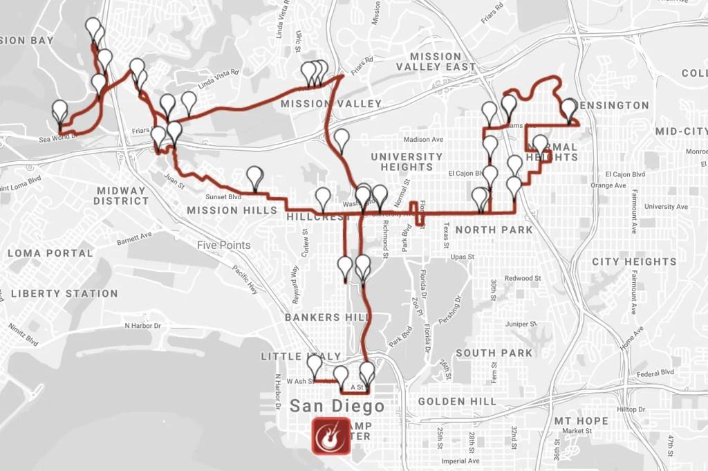 Rock n Roll San Diego Marathon Course